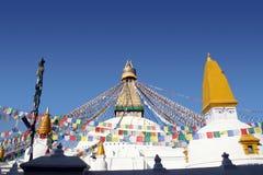 bodhnath尼泊尔stupa 库存图片