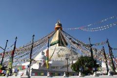 bodhnath尼泊尔stupa 图库摄影