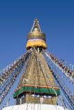 bodhnath尼泊尔stupa 免版税库存图片