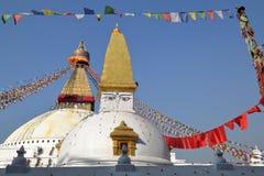 BODHNATH, НЕПАЛ: Bodhnath Stupa около Катманду Стоковое Фото