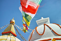 Bodhnath buddistiskt torn royaltyfri bild