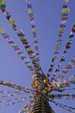 Bodhnath in Katmandu Stock Afbeelding