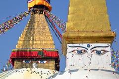 BODHNATH, NEPAL: O Bodhnath Stupa perto de Kathmandu foto de stock royalty free