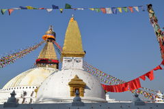 BODHNATH, NEPAL: O Bodhnath Stupa perto de Kathmandu foto de stock