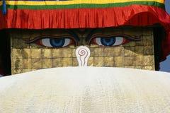 Bodhnath Stupa在加德满都 免版税库存图片