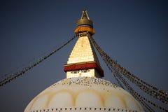 Bodhnath Stupa在尼泊尔 免版税库存照片