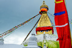 Bodhnath Stupa в Непале Стоковое фото RF