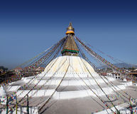 Bodhnath Stupa. In Kathmandu, Nepal. This is Nepal's largest stupa and one of the largest in the world Stock Image