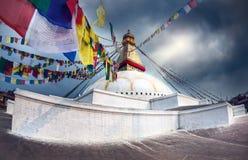 Bodhnath Stupa Imagenes de archivo