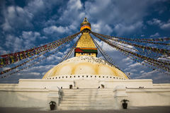 bodhnath stupa Στοκ Εικόνες