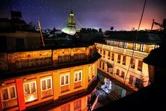 Bodhnath Stupa At Night Stock Photo