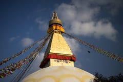 Bodhnath Stupa au Népal Photos stock