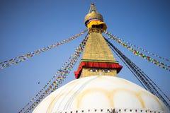 Bodhnath Stupa au Népal Images stock