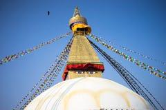 Bodhnath Stupa au Népal Photographie stock libre de droits