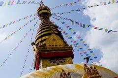Bodhnath Stupa i Nepal Fotografering för Bildbyråer