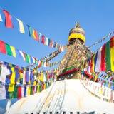 Bodhnath Stupa in Kathmandu with Buddha Eyes. Asian. Stock Photography