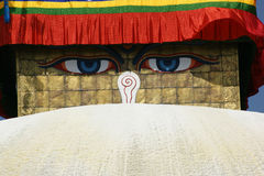 The Bodhnath Stupa in Kathmandu Royalty Free Stock Image