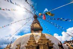 Bodhnath stupa in Kathmandu valley, Nepal Stock Photos