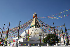 Bodhnath Stupa - le Népal Photographie stock