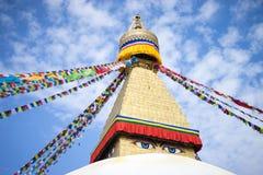 Bodhnath Stupa in Nepal lizenzfreie stockbilder