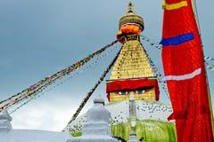 Bodhnath Stupa in Nepal Lizenzfreies Stockfoto