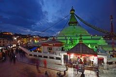 Bodhnath Stupa in twilight, Kathmandu, Nepal. Stock Image