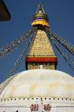Bodhnathen Stupa i Katmandu Royaltyfri Fotografi