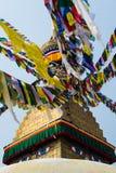 Bodhnathstupa in Katmandu, Nepal stock foto