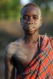 Bodi krigare södra Omo, Etiopien Royaltyfria Bilder