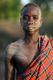 Bodi warrior South Omo, Ethiopia Royalty Free Stock Images