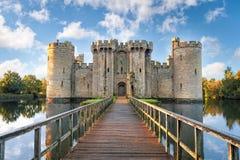 Bodiam Castle στην Αγγλία Στοκ Εικόνες