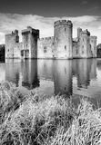 Bodiam Castle. In Kent, England. View across the moat Royalty Free Stock Images