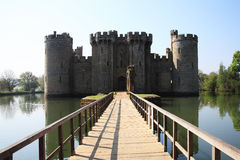 Bodiam Castle. Near Robertsbridge, East Sussex, England, UK is a 14th century medieval moated castle Royalty Free Stock Photos