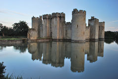 Bodiam Castle. With it's reflection in the moat Stock Images