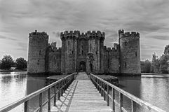 Bodiam Castle, Black and White Royalty Free Stock Photography