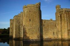 Bodiam Castle - Landscape. Fortress, reflection stock images