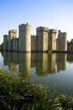 Bodiam castle and moat Royalty Free Stock Images