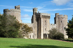 Bodiam castle and surrounding green park Stock Photo