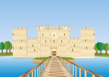 Bodiam castle in Sussex Stock Image