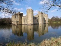 Bodiam Schloss, England Stockfotos