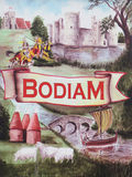 Bodiam village sign, East Sussex Royalty Free Stock Photo