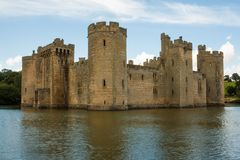 Bodiamkasteel, Bodiam, Kent, het UK royalty-vrije stock foto