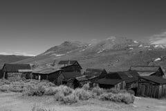Bodie国家历史公园是真正加利福尼亚金矿鬼城 免版税库存照片