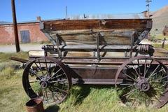 Bodie国家历史公园:支架/推车 库存照片