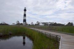 Bodie海岛灯塔, NC,美国 图库摄影