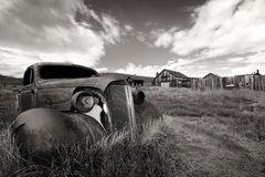 Bodie. Rusty car in Bodie Ghost Town, California Stock Photo