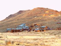 Bodie ancient far west gold rush city. Bodie is a ghost town in the Bodie Hills east of the Sierra Nevada mountain range in Mono County, California, United stock image