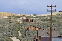 Bodie Ca. An old ghost town view Royalty Free Stock Photography