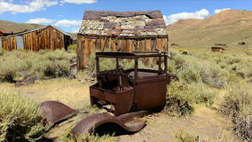 Bodie California - Abandon Mining Ghost Town - Time Lapse - Daytime stock video footage