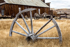 Bodie, California.  Ghost town.  Wagon Wheel. Bodie, California wagon wheel.  Historic ghost town Royalty Free Stock Photography
